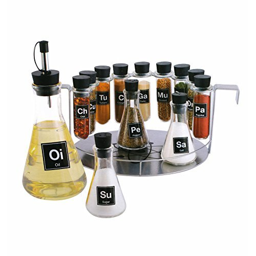 Price comparison product image Chemist's Spice Rack,  14 Piece Chemistry Spice Rack Set