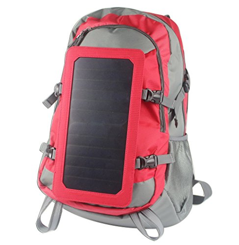 Solar Backpack with Battery Charging 5000mAh Power Bank that Recharges via the Sun by Emperor of Gadgets