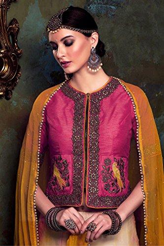 IWS Womens Fancy Fabric Cream Pretty A Line Lehenga Style 84051