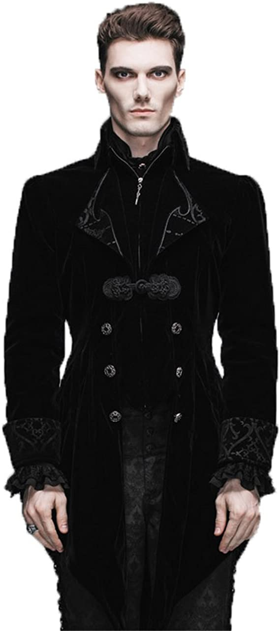 UK--Retro Victorian Steampunk Swallow Gothic Men Tailcoat Jacket Ringmaster Tail