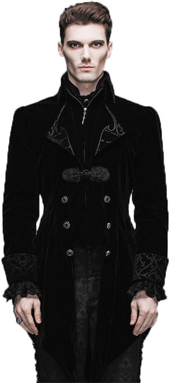 UK--Retro Victorian Steampunk Swallow Gothic Men Tailcoat Jacket Ringmaster Tail