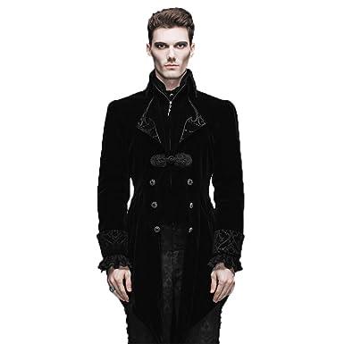 8b85df6e8 Steelmaster Steampunk Men's Swallow Tail Coat Gothic Winter Jacket (S,  Black)