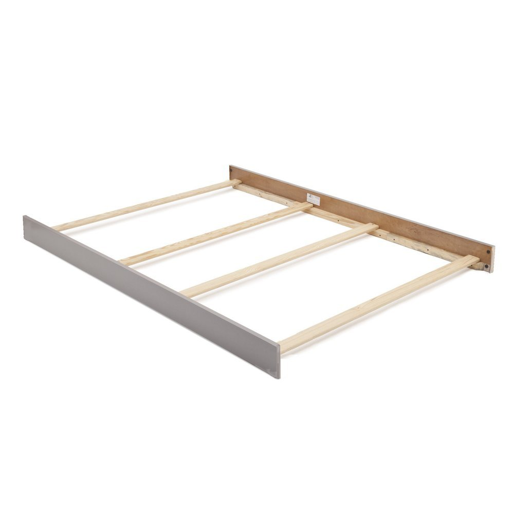 Full Size Conversion Kit Bed Rails for Baby Cache Overland Crib in Ash Gray