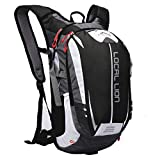 Local Lion Outdoor Sports Hiking Daypack Cycling Backpack Unisex, Black