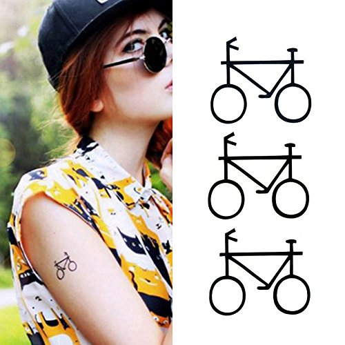 Totem Temporary Tattoo (Oottati Small Cute Temporary Tattoo Bicycle Totem Arm (Set of 2))