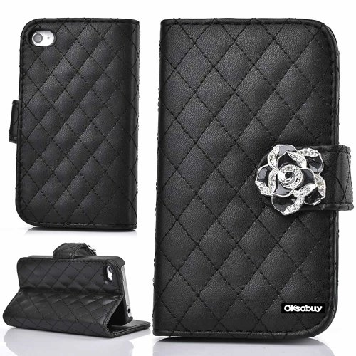 OkSoBuy® Apple iphone 4 4S case,PU Leather Wallet Magnet ...