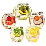 onion tomato saver - Produce Saver Container Set - Avocado, Tomato, Onion, Lime and Lemon Keeper
