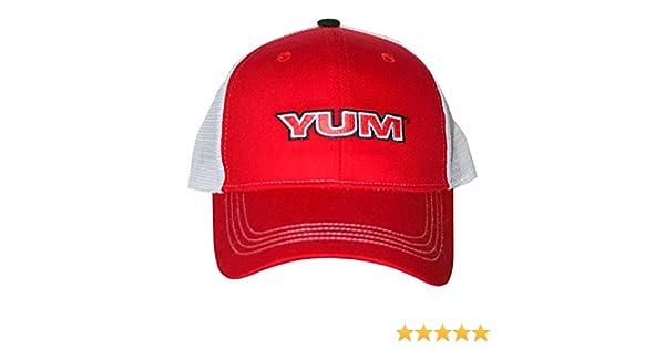 c818a367 Osfm Yum baits Mesh Fishing Tournament Trucker Red Baseball Cap Hat