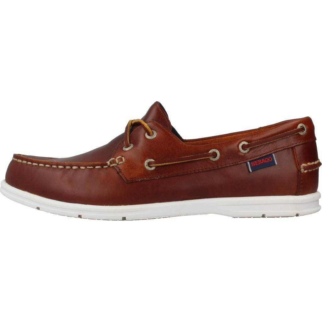 Sebago Men'S Men'S Litesides Two Eye Brow Oiled Waxl Shoes In Size 45 E (W) Brown clRrtK
