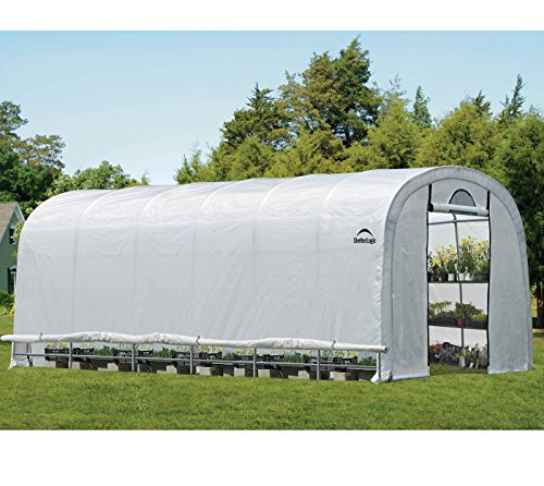ShelterLogic Gewächshaus, Foliengewächshaus, Tomatenhaus // 730x370x250cm (LxBxH) // 27m² // Folienhaus & Folienzelt