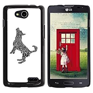 PC/Aluminum Funda Carcasa protectora para LG OPTIMUS L90 / D415 Happy Dog Art Print Minimalist White / JUSTGO PHONE PROTECTOR