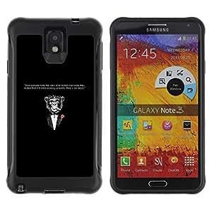 Hybrid Anti-Shock Defend Case for Samsung Galaxy Note 3 / Godfather Moneky & Evolution