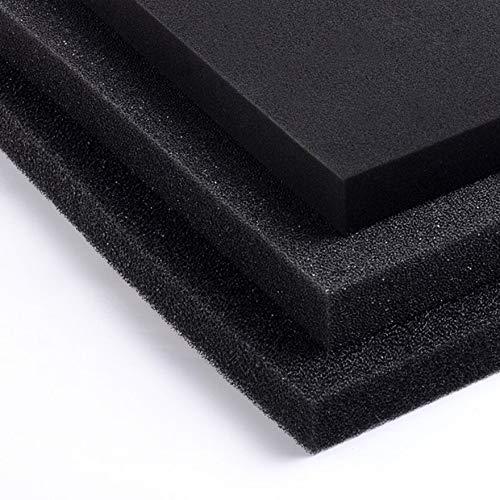 Panno di spugna con filtro biochimico universale per acquario in schiuma di acquario nero filtrante per pesci 50x50x2cm nero