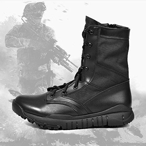 9e89cd0b51206 IODSON US Mens' Ultra-Light Combat Boots Military Tactical Work ...