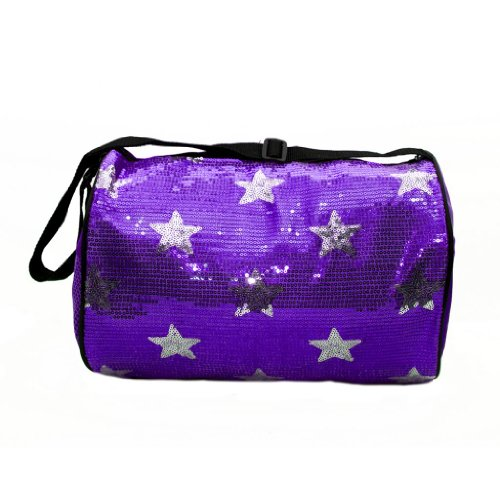 Girls Dance Bag Duffle Sequin Star Bag Purple