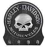 Harley-Davidson Skull Key Rack/Holder - 4 Hooks