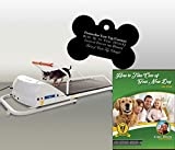 GoPet Petrun Indoor Exercise Treadmill for Dogs Up to 88 Pounds (Model #: PR-710) with FREE Custom Bone Shaped Dog Tag and E-Book©