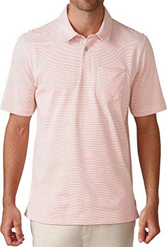 - Ashworth Men's Jersey Mini Stripe Pocket Golf Polo (S, Sea Coral)