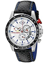 GV2 by Gevril Men's 9905 Scuderia Watch With Black Leather Band