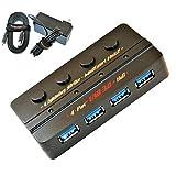 Lightning Strike USB 3.1 Gen 1 SuperSpeed 4-Port Powered Hub Bundle