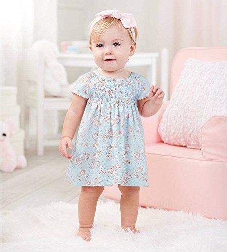 Blue Smocked Dress (Mud Pie Blue Rose Smocked Dress (9-12 Months))