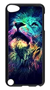 Brian114 Case, iPod Touch 5 Case, iPod Touch 5th Case Cover, Cool Color Lion Retro Protective Hard PC Back Case for iPod Touch 5 ( Black )