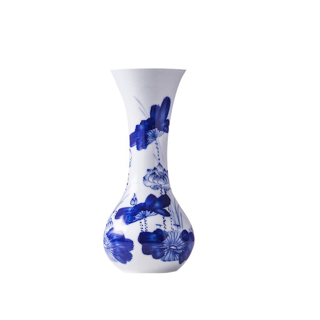 MAHONGQING 花瓶セラミック青と白の磁器小さな花瓶水耕豊かな竹のフラワーアレンジメントホームリビングルームの装飾棚の装飾 B07S3VX68Y