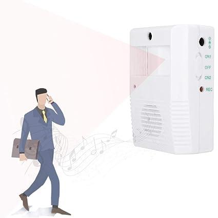Timbre de bienvenida Sensor de infrarrojos Detector de movimiento Saludo de bienvenida Timbre de la puerta Timbre de alarma para tienda Tienda, 3 * AA ...