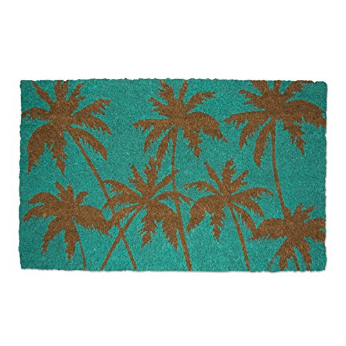 DII Indoor/Outdoor Natural Coir Fiber Spring/Summer Doormat, 18 x 30, Palm Beach
