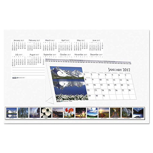 Recycled Scenic Photos Desk Tent Monthly Calendar, 8 1/2 x 4 1/2, Jan-Dec 2017