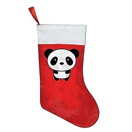 panda animal christmas stockings holiday party home yard tree wall decorations