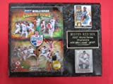 2007 Red Sox World Series Champions 2 Card Collector Plaque #1 w/8x10 Photo