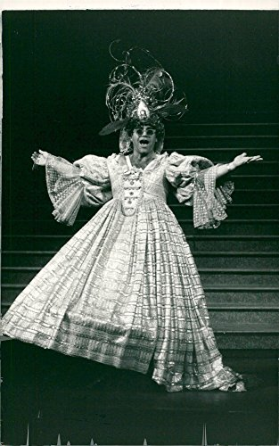 Pantomime Characters Costumes (Vintage photo of Elton John dressed as a punk lady on a charity show of Mother Goose Pantomime)