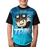 DanTDM Dan TDM 2018 New Style Comfy T-Shirt Short Sleeve Tops for Kids Youth Boys and Girls