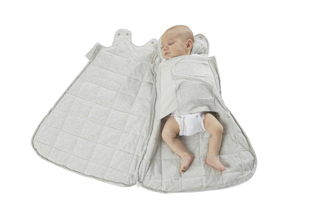 Gunapod Newborn Swaddle Sack 5-Way Swaddling Blanket Luxury  Rayon Bamboo Sleeping Bag with WONDERZiP