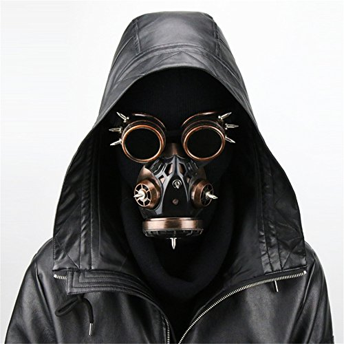 Daft Punk Out Of Costume (JACKDAINE Steampunk Goggles Gas Mask Halloween Props Gift)