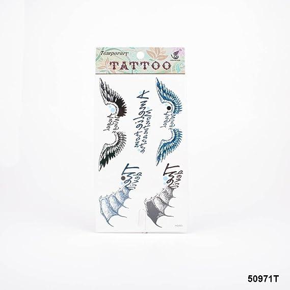 Tatuajes con alas de ángel y demonio con trazos: Amazon.es: Salud ...