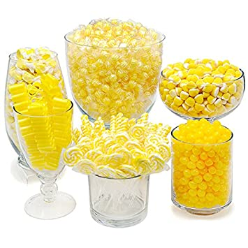 amazon com yellow candy kit party candy buffet table grocery rh amazon com blue and yellow candy buffet ideas yellow themed candy buffet