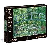 Clementoni 39266 - Puzzle Monet - Stagno con Ninfee, Armonia in Verde, Collezione Museum, 1000 Pezzi