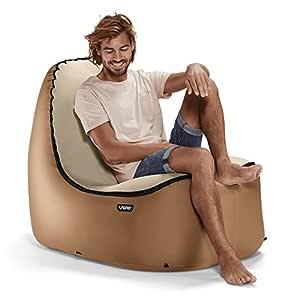 TRONO - La silla hinchable al aire libre, con soporte de espalda ...