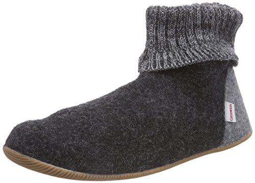 Giesswein Wildpoldsried - pantuflas sin forro de lana hombre gris - Grau (anthrazit / 019)