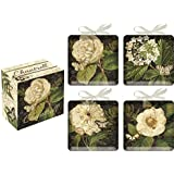Chantrell Flower and Butterfly Ceramic Decorative Mini Plates Set of 4