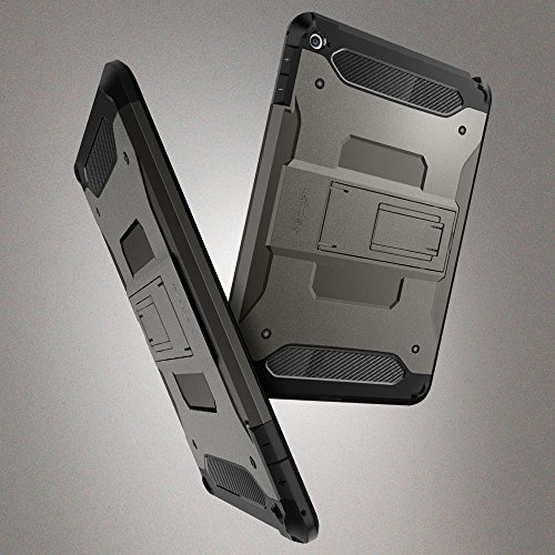 info for 46bfd 78bdc Spigen Tough Armor Works with iPad Mini 4 Case (2015) - Gunmetal