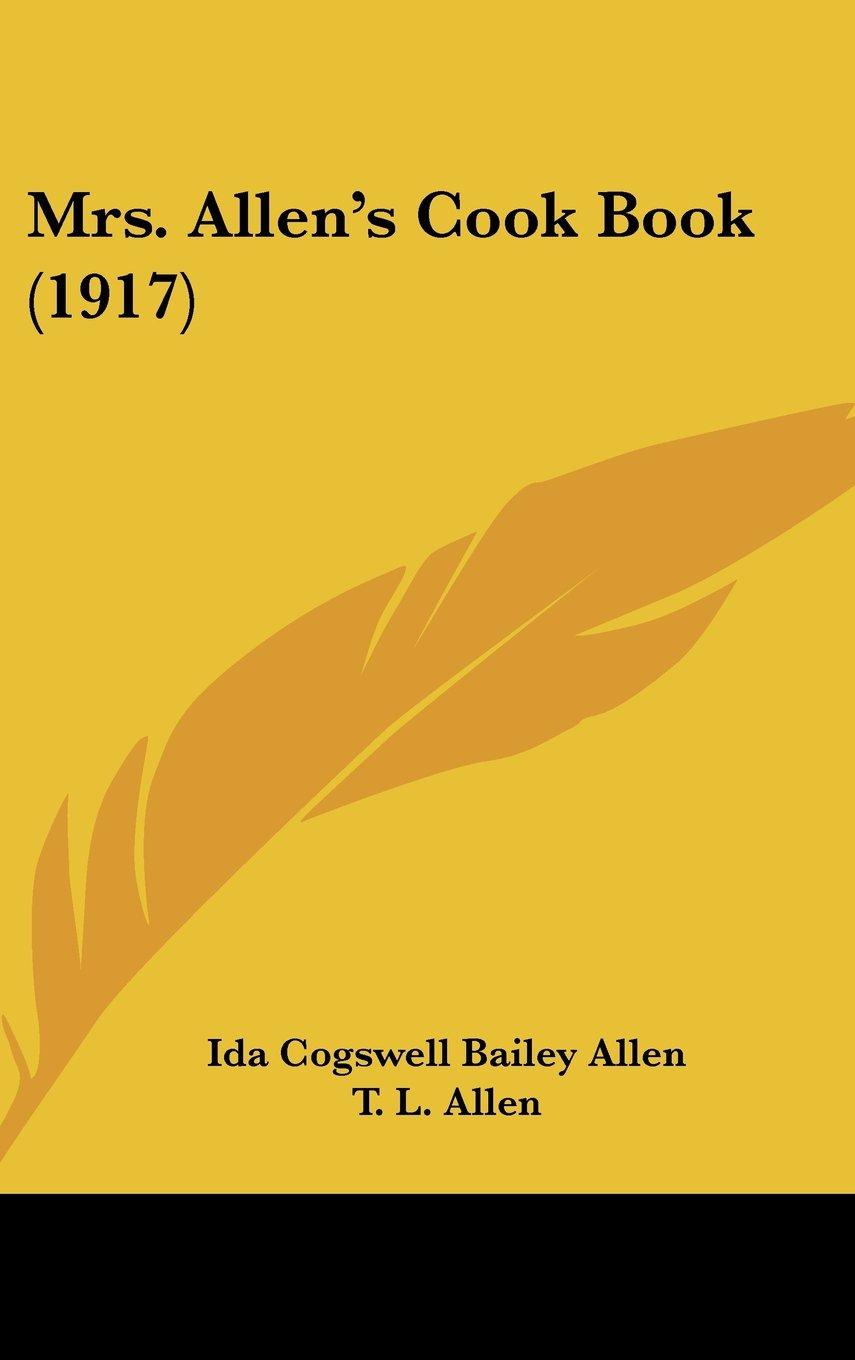 Mrs. Allen's Cook Book (1917) ebook