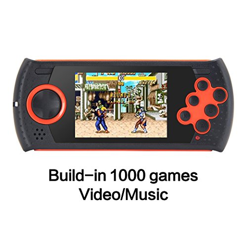 (CZT 3.0 Inch Retro Game Handheld Player Game Console Built-in 1100 SEGA Games Video Game Console Support AV Cable designed for SEGA (Orange))
