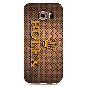 Rolex Logo Back Cover For Samsung Galaxy S6edge 3D Hard Plastic Case