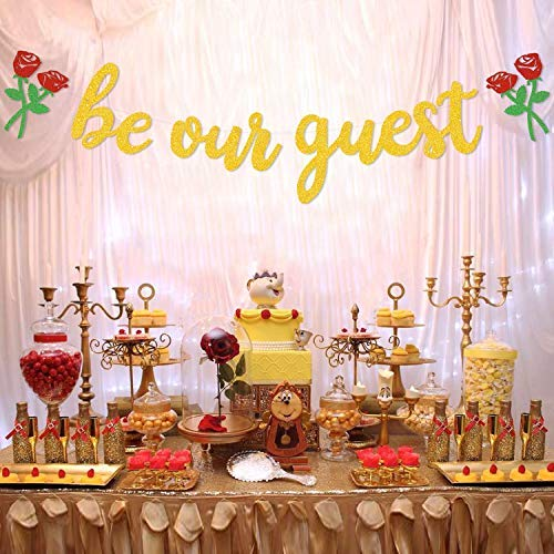 Beauty And The Beast Birthday Supplies (Be Our Guest Banner, Reception Banner Bachelorete Party Engagement Party)