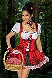 Karneval Mottoparty Süsses Rotkäppchen-Kostüm