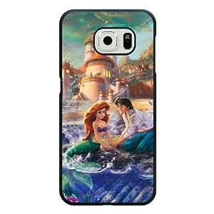 Galaxy S6 Case, Customized Black Hard Plastic Galaxy S6 Case, Disney Princess The Little Mermaid Galaxy S6 Case(Not Fit Galaxy S6 Edge)