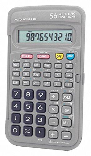 Control Company Scientific Calculator, Portable, 5 in.